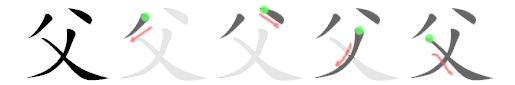 stroke order for 父