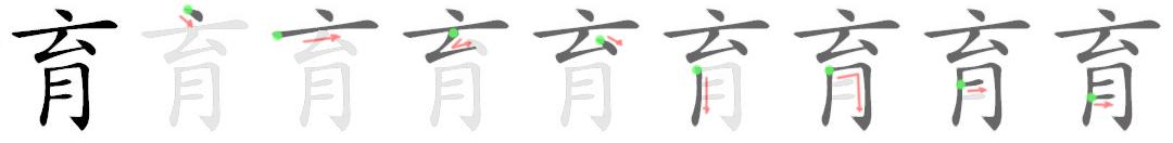 stroke order for 育