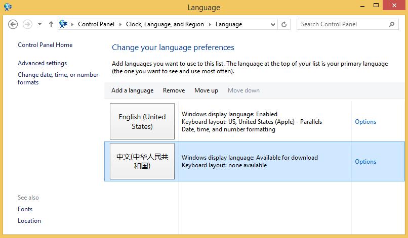 screenshot type chinese options